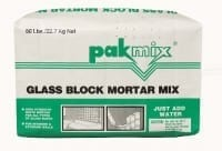 Pakmix Glassblock Mortar Mix